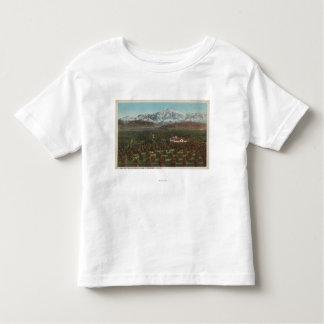 Redlands, CA - Mountain & Orchard Scene Toddler T-shirt