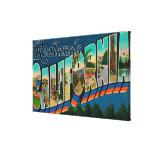 Redlands, California - Large Letter Scenes Stretched Canvas Prints