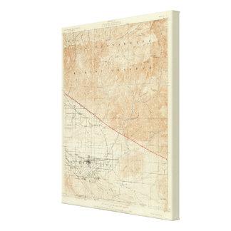 Redlands quadrangle showing San Andreas Rift Canvas Print