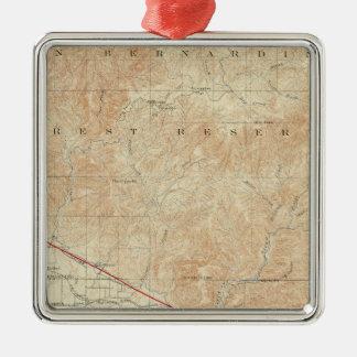 Redlands quadrangle showing San Andreas Rift Metal Ornament