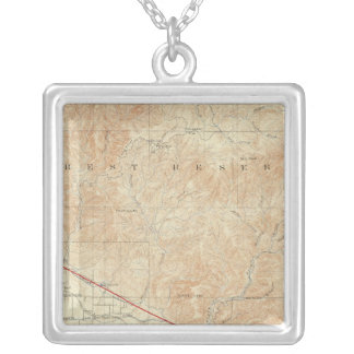 Redlands quadrangle showing San Andreas Rift Personalized Necklace