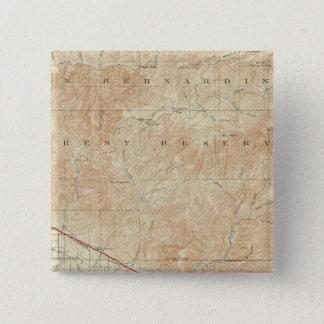 Redlands quadrangle showing San Andreas Rift Pinback Button
