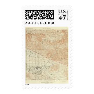 Redlands quadrangle showing San Andreas Rift Postage