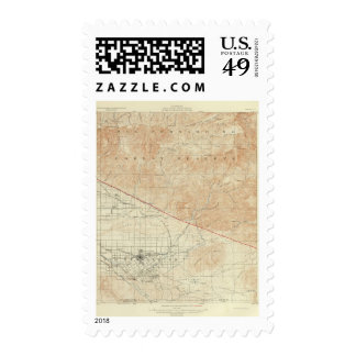 Redlands quadrangle showing San Andreas Rift Postage Stamp