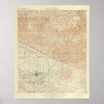 Redlands quadrangle showing San Andreas Rift Poster