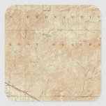 Redlands quadrangle showing San Andreas Rift Square Sticker