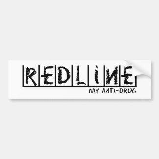 Redline Anti-Drug Bumper Sticker