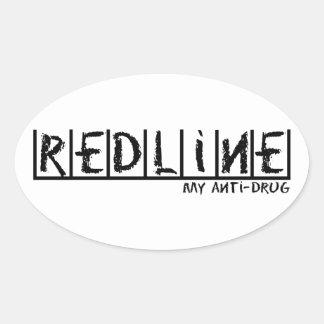 Redline Anti-Drug Oval Sticker
