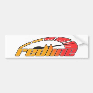 Redline Tach Design Bumper Sticker
