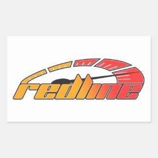 Redline Tach Design Rectangular Sticker