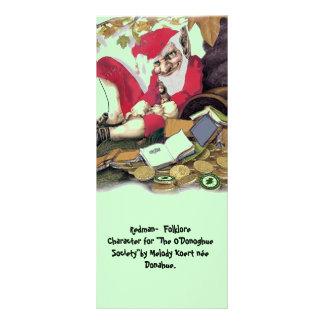 Redman, carácter del folclore tarjetas publicitarias