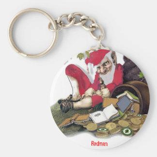 Redman, folclore irlandés llavero redondo tipo pin