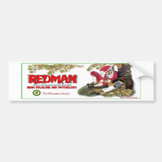 Redman, folclore irlandés pegatina para auto