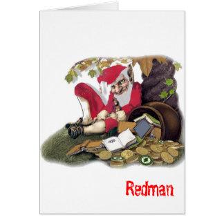 Redman, folclore irlandés tarjeta de felicitación