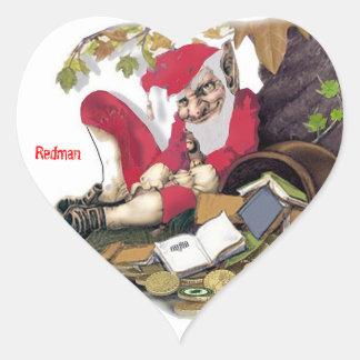 Redman, Irish Folklore Heart Sticker
