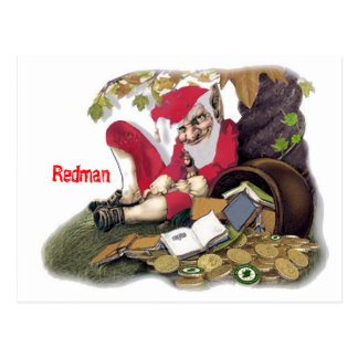 Redman, Irish Folklore Postcard