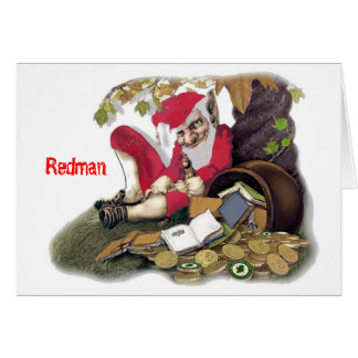 Redman, Irish Mythology Greeting Card