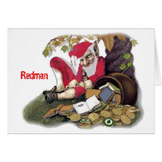 Redman, mitología irlandesa tarjeta de felicitación