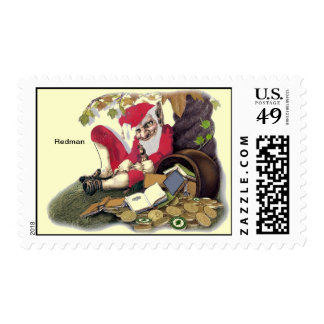 Redman, un carácter irlandés del folclore sello postal