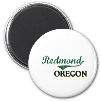 Redmond Oregon Classic Design 2 Inch Round Magnet