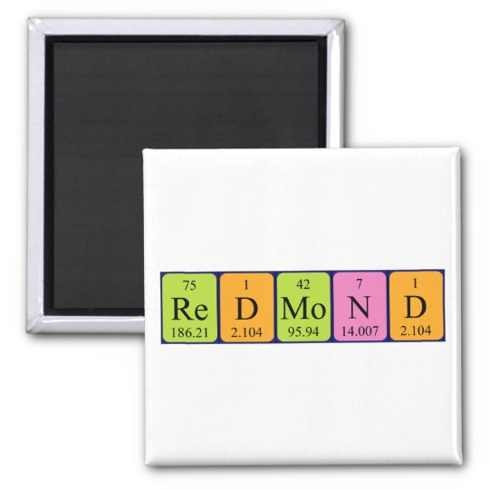 Redmond periodic table name magnet