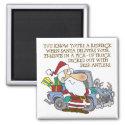 Rednceck Santa Claus magnet
