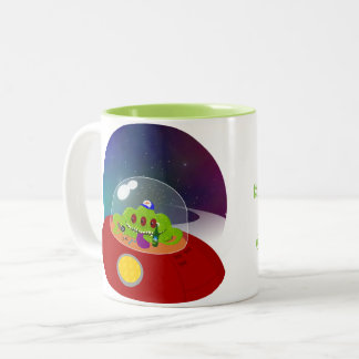 Redneck Alien from Outer Space Two-Tone Coffee Mug