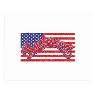Redneck and Flag Postcard