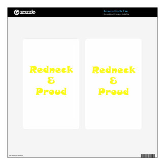 Redneck and Proud Kindle Fire Decals