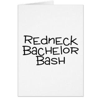 Redneck Bachelor Bash Card