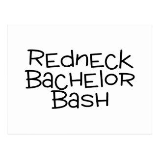 Redneck Bachelor Bash Postcard