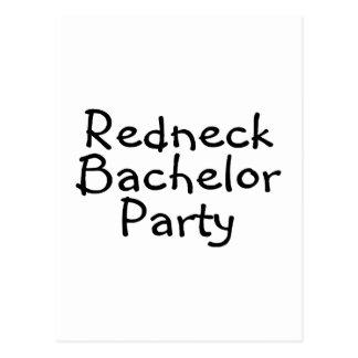 Redneck Bachelor Party Postcard