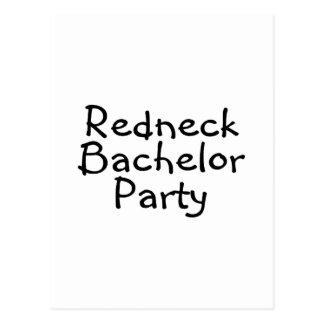 Redneck Bachelor Party Wedding Postcard