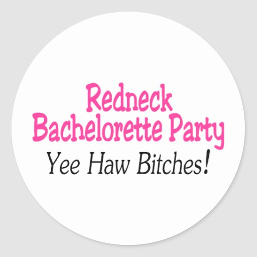 Redneck Bachelorette Party Yee Haw Classic Round Sticker