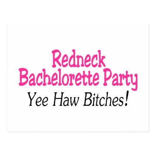 Redneck Bachelorette Party Yee Haw Postcard