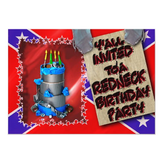 REDNECK BIRTHDAY PARTY INVITATION - DUCT TAPE