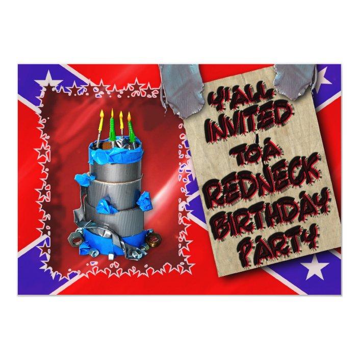 Tremendous Redneck Birthday Party Invitation Duct Tape Zazzle Funny Birthday Cards Online Alyptdamsfinfo