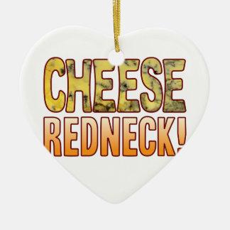 Redneck Blue Cheese Ceramic Ornament