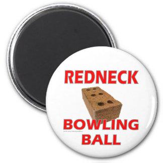 REDNECK BOWLING BALL 2 INCH ROUND MAGNET