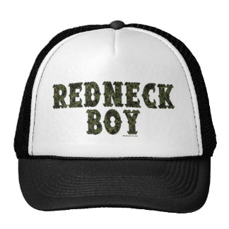 Redneck Boy Green Camo Hats
