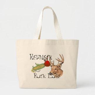 redneck buck lure jumbo tote bag