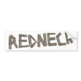 Redneck bumper sticker bumpersticker