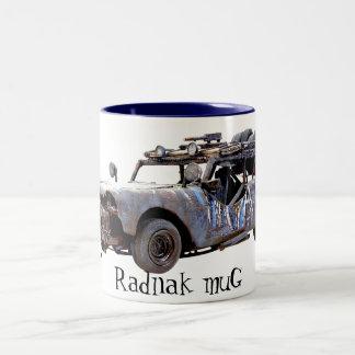 redneck car Two-Tone coffee mug