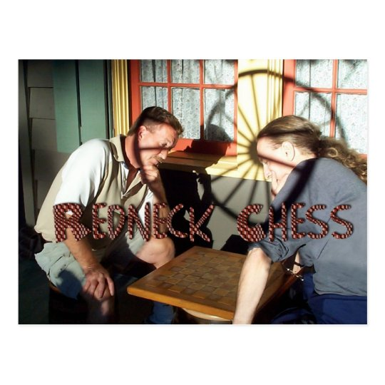 Redneck Chess Postcard