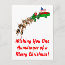 Redneck Christmas Holiday Postcard