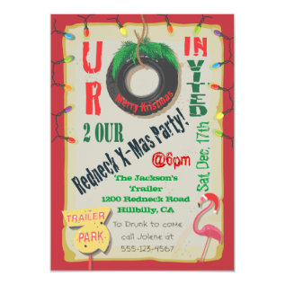Redneck Christmas Party Invitations at Zazzle