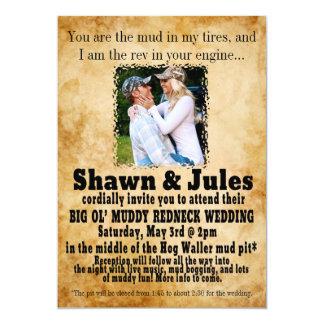 Redneck Couple Wedding Celebration Invitation