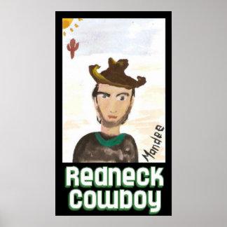 Redneck cowboy poster