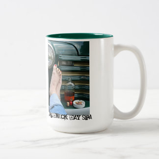 Redneck Day Spa Two-Tone Coffee Mug