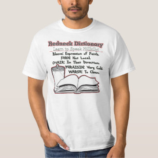Redneck Dictionary Learn To Read Hillbilly T Shirts